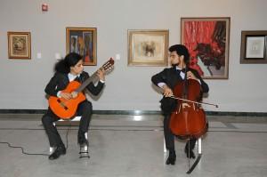 Los asistentes disfrutaron  música de cámara con el Dúo Menrij