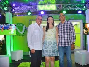 Antonio Saladin, Rosambar Fernandez y Aristides Henriquez de Triband Comunicaciones