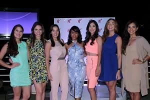 Iamdra Fermin, Lorenna Pierre, la Dra Giselle Escano, Airam Toribio, Desiree Alvarez, Gabi Desamgles y Glency Feliz