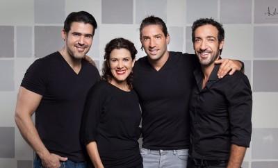 José Guillermo Cortines, Rosalinda Rodríguez, David Chocarro y Alberto Mateo