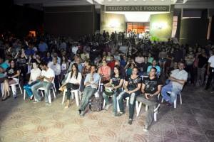 Parte del público que asistió al concierto de Toque Profundo.