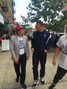 Alex Rodríguez y el Pachá en las calles de Manhattan (1)