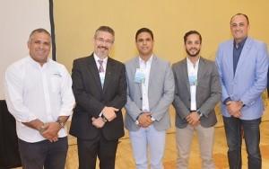 Dr. José Capellán, Dr. Marcos Peguero, Dr. Erick de los Santos y Felipe Herrera