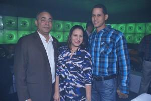 Severo Rivera, Yohanna Hilario y Odalis Cruz