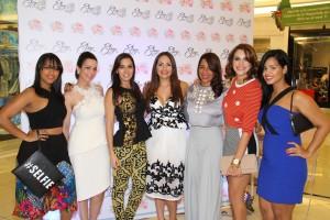 Airam Toribio, Pilar Haché, Giselle Escaño, Elisa Amalia Pimentel, Karina Fabián, Pamela Sued y Saidy Fabián