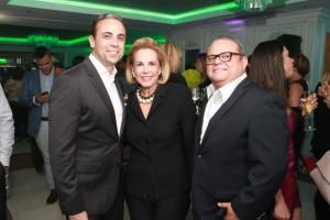 Alfonso Espaillat, Yadira Morel y Alfonso Quiñones.