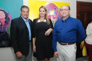 Andrés Alba, Lissa Jiménez y Rafael Alba.