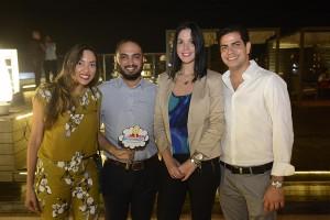 Dahiana Rijo, Carlos Constanzo, Ana Patricia Rodriguez y Andres Gañan