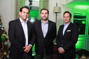 Dorian Rodriguez, Aldo Pellicce y Ricardo Ginebra.