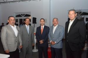 Refidomsa. Foto 3- Héctor Leonel Grullon, Néstor Rodríguez, Carlos Rivas, Arturo Santana y Luis Taveras.