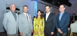 Refidomsa. Foto 4- José Miguel Russo, Hamlet Vasquez, Paola Liranzo, Miguel Russo y Carlos Liranzo.