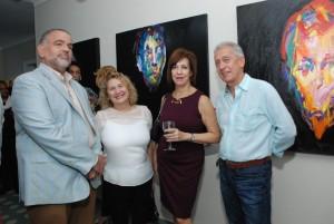 Wilfredo Mallén, Rosario Bonarelli de Varela, Rosa de Mallén y Fernando Varela.