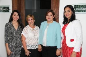 Ysmery Estévez , Lourdes Leiro, Elizabeth Vargas y Diana García