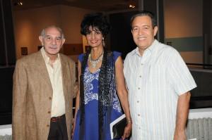 Ángel Haché, Elsa Núñez y Mario Martínez.
