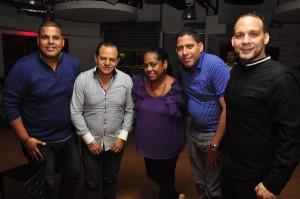 4 Elvis Hilario, Ricky Owen, Miguelina Santos, Alan Clariot y Omar Rivera.