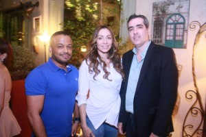 Frank Reynoso, Miralba Ruíz y Aitor Palacio