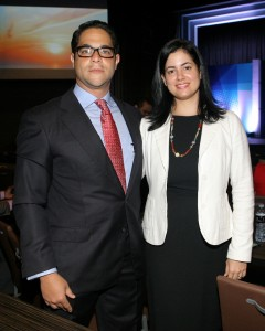 Luis Pérez y Emma Minaya.