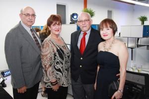 René Torres, Norma Rodríguez, Carmelo Ayana y Milagros Santana. (Copiar)