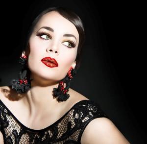 Retratos beauty de Doreen Gutierrez  para Bana Cosmetics. Fotografía:  Alina Vargas-Afanasieva