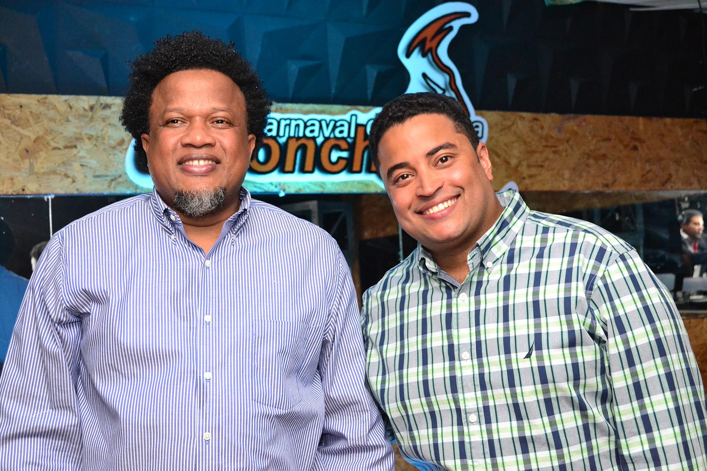 Aquiles Correa y Edwin Santos
