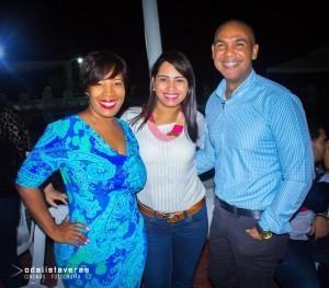 Milka Hernández, Carmen Bretón y Salvador Batista