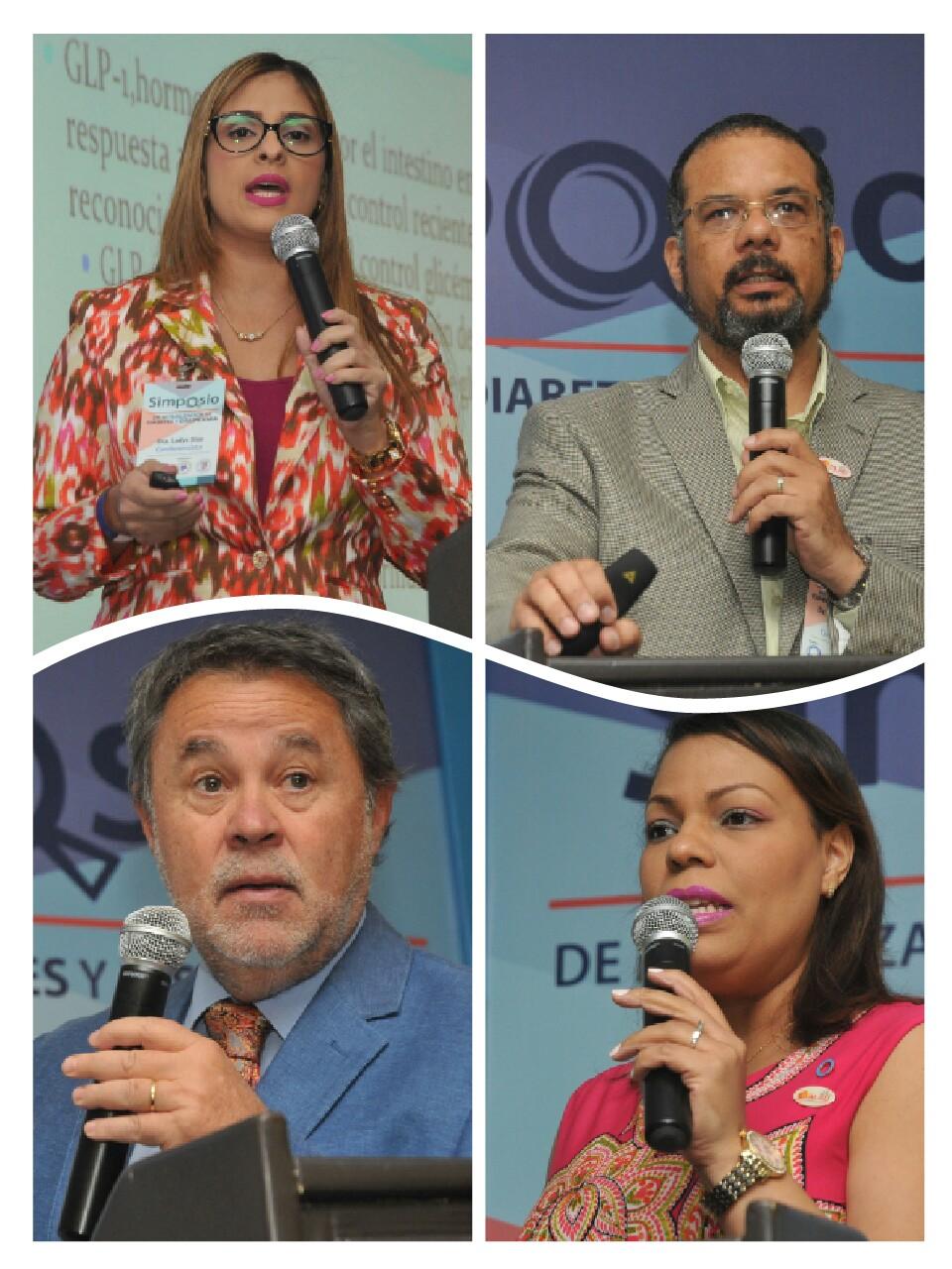 1.- Principal.- expositores Dres Ladys Dias, José Rodríguez, Carlos Grant y Sarah Graciano