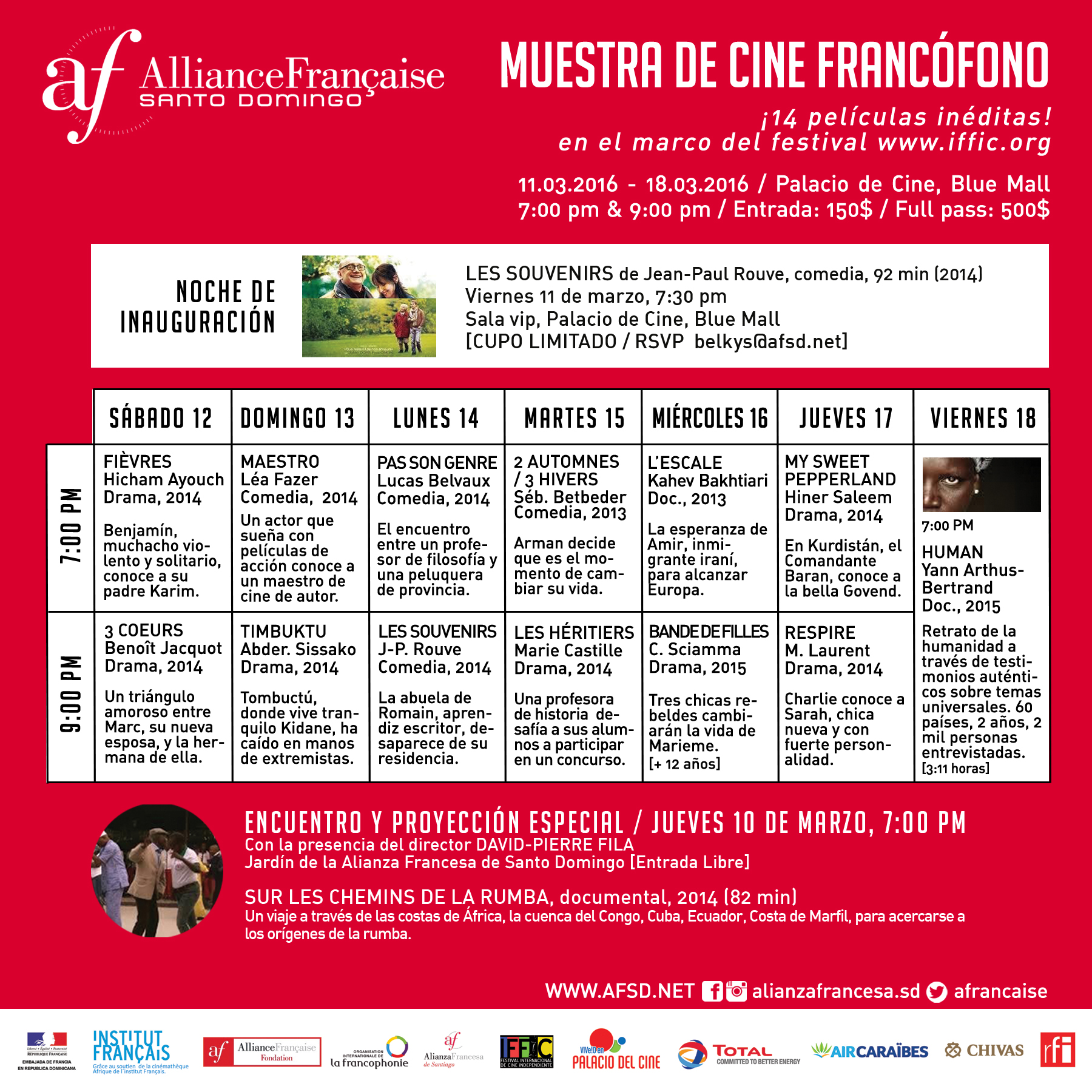 PROGRAMA COMPLETO - Muestra de cine francófono