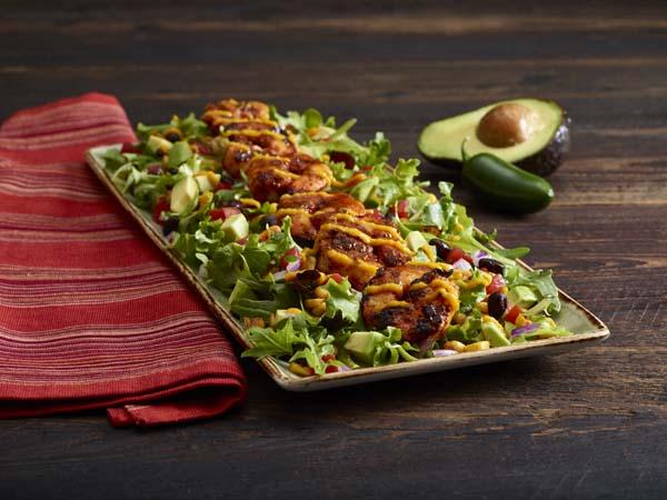 Grilled shrimp Mexican corn salad