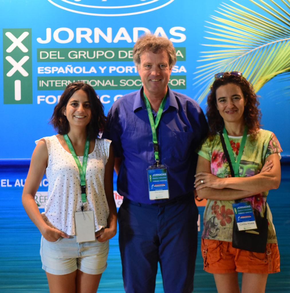 Ana Goios, Thore Egeland y Cintia Alves
