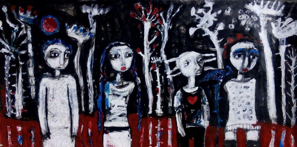 Obra Energía humana, artista Iris Pérez