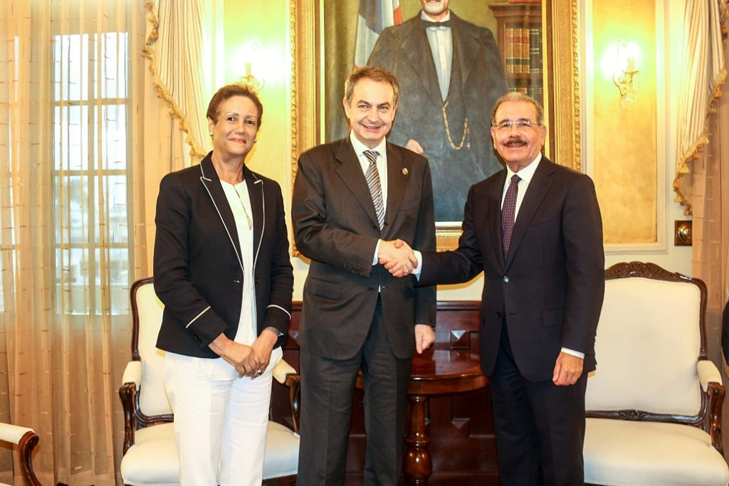 VISITA DE CORTESÍA PRESIDENTE Florinda Rojas, José Luis Rodriguez Zapatero y Danilo Medina