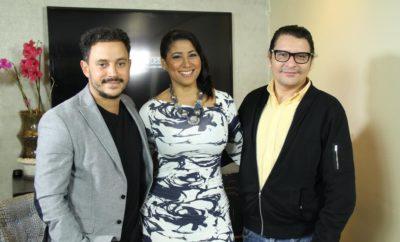 Yenny con Fausto Rojas y Bladimir Abud