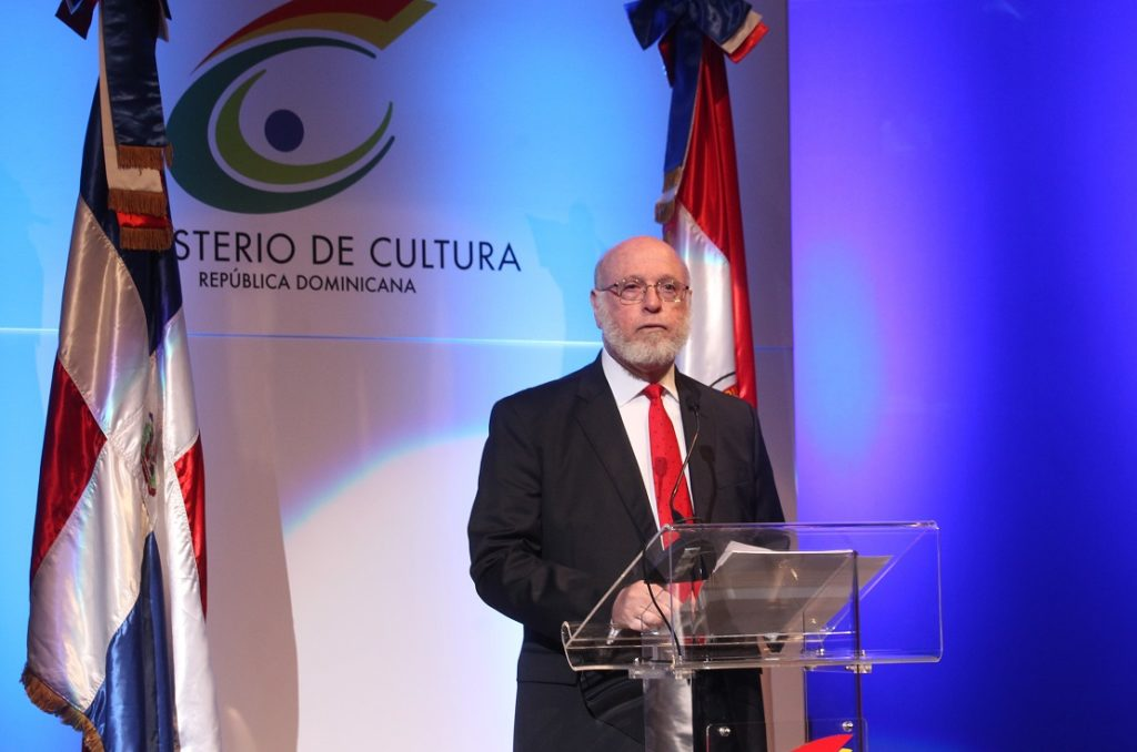 Pedro Vergés, ministro de Cultura, pronuncia el discurso inaugural de la Feria del Libro 2017