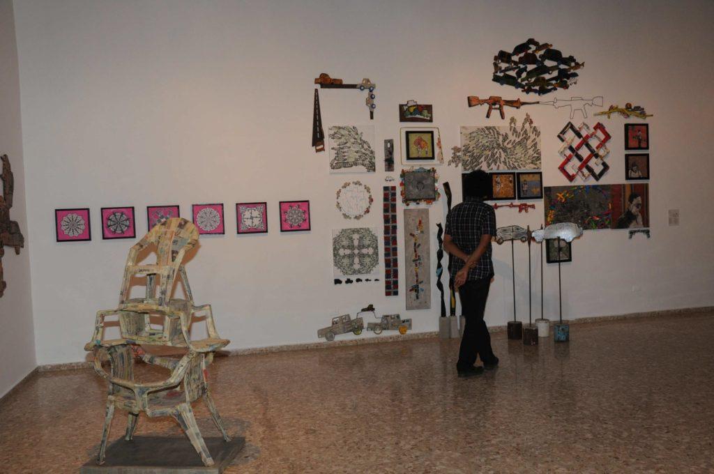 Instalación Canon Caos, del artista Marcelo Ferder.