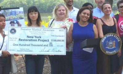 Senadora Alcántara entrega 100 mil dólares restaurar área Alto Manhattan