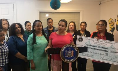 Senadora Alcántara entrega 80 mil dólares programa despues alumna salgan escuelas