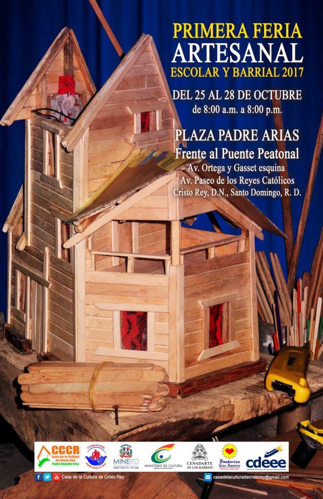 Afiche Primera Feria Artesanal Cristo Rey - Casa de la Cultura de Cristo Rey - Tony Estrella (Diseño Rafi Pinales, Cristo Rey en Línea),