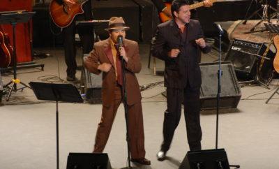 01.-Pavel Núñez y Luís Enrique durante el Big Band Núñez de 2007