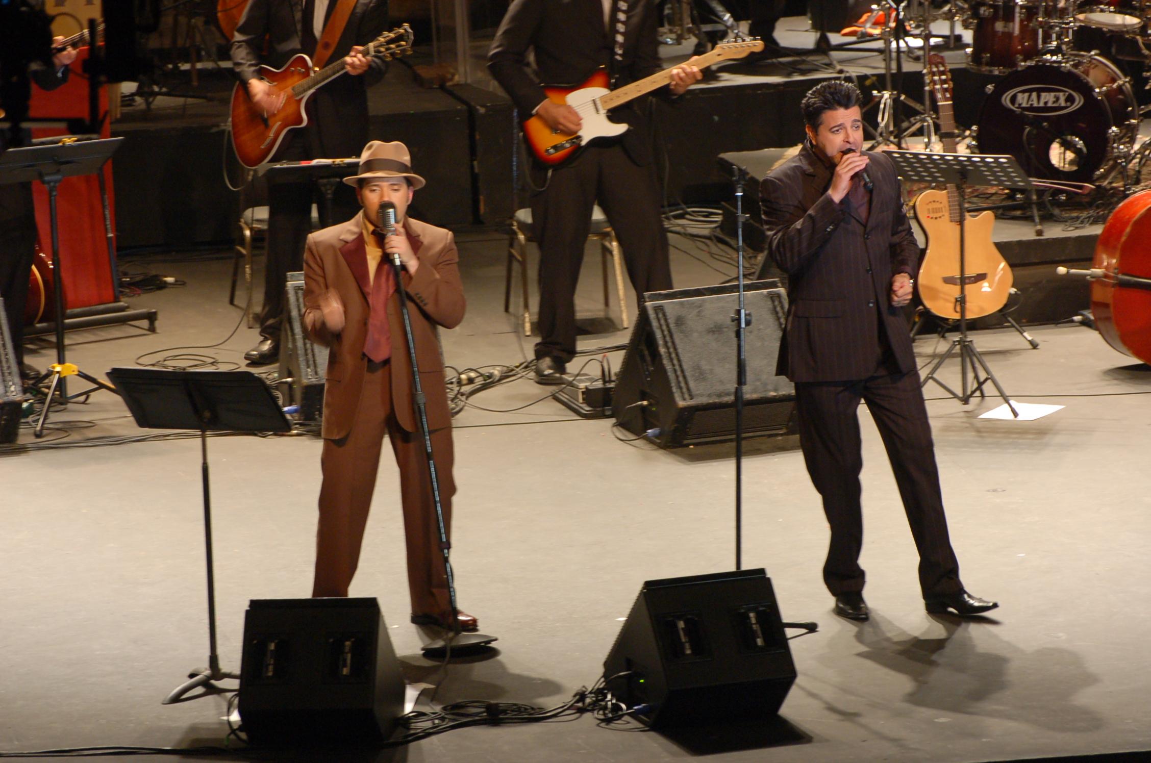 02.-Pavel y Luís Enrique hace diez años en el Big Band Núñez del 2007