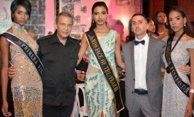1ra finalista Tati Baez,Director del Concurso Robert Flores, Miss Face of the Year Seline Santos, Remy Castrejon