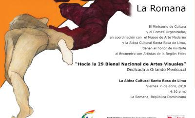Invitación La Romana Aldea Santa Rosa de Lima Encuentros 29 BNAV 2018