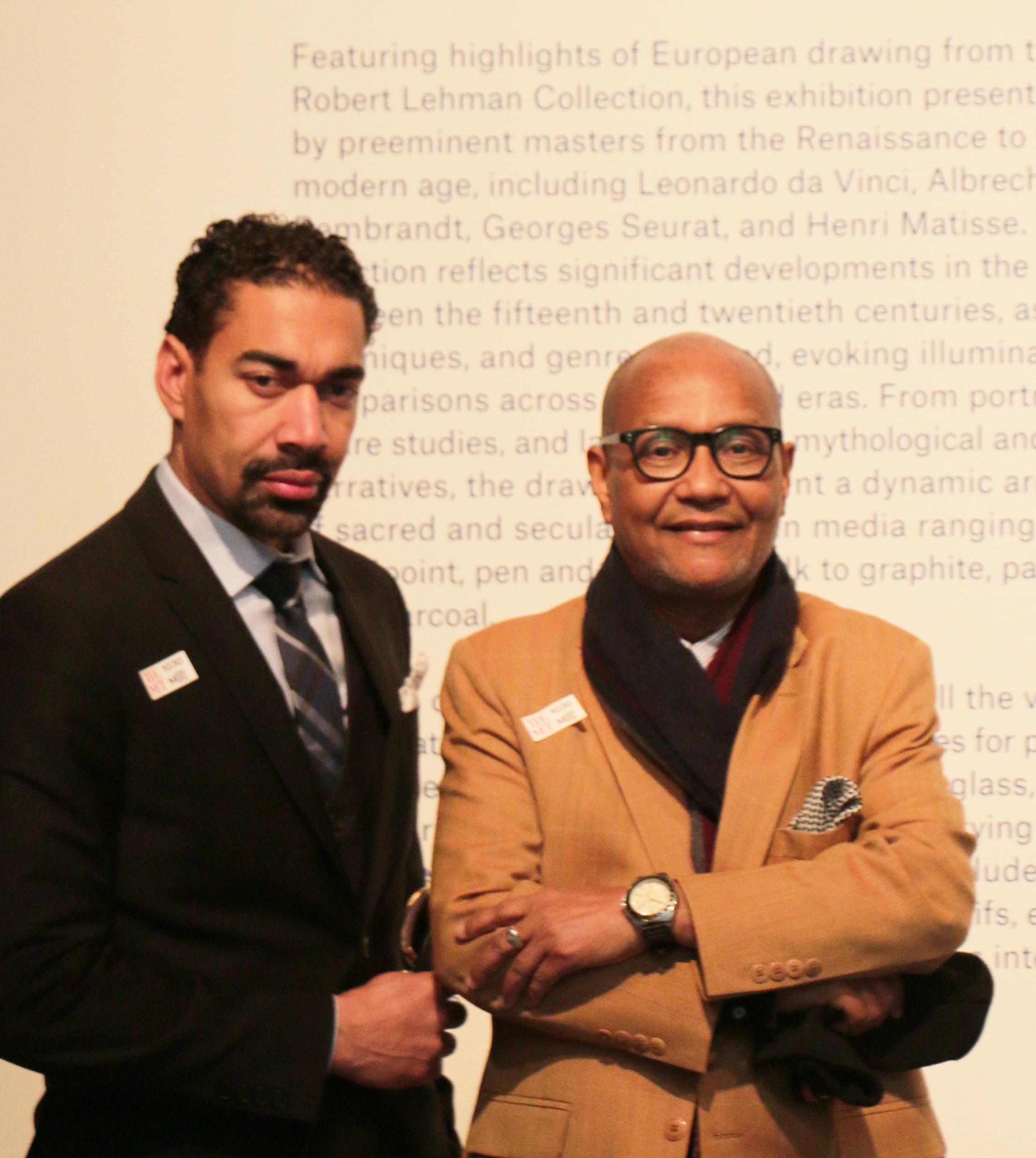 Oscar Abreu y Abil Peralta en el Museo Metropolitano