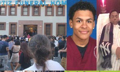 Miles asisten funeraria velan joven dominicano asesinado en El Bronx