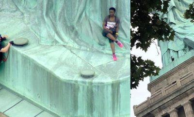 Evacuan Estatua Libertad por mujer escalarla_ habían dominicanos..