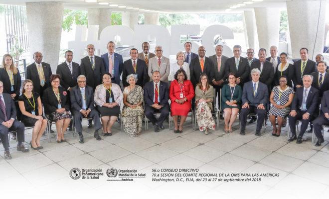 Rafael Sanchez Cardenas en comite regional OMS OPS