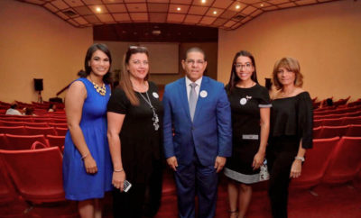 Leira Solís, Minerva Felipe, Adolfo Rodríguez, Elba Díaz y Carmen Gatón.