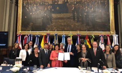 El ministro de Cultura de República Dominicana, arquitecto Eduardo Selman, junto a colegas de once países América Latina y el Caribe