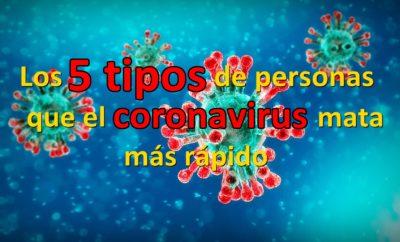 ARTICULO JOAN MATIAS SOBRE LOS 5 TIPOS DE PERSONAS QUE EL CORONAVIRUS MATA MAS RAPIDO